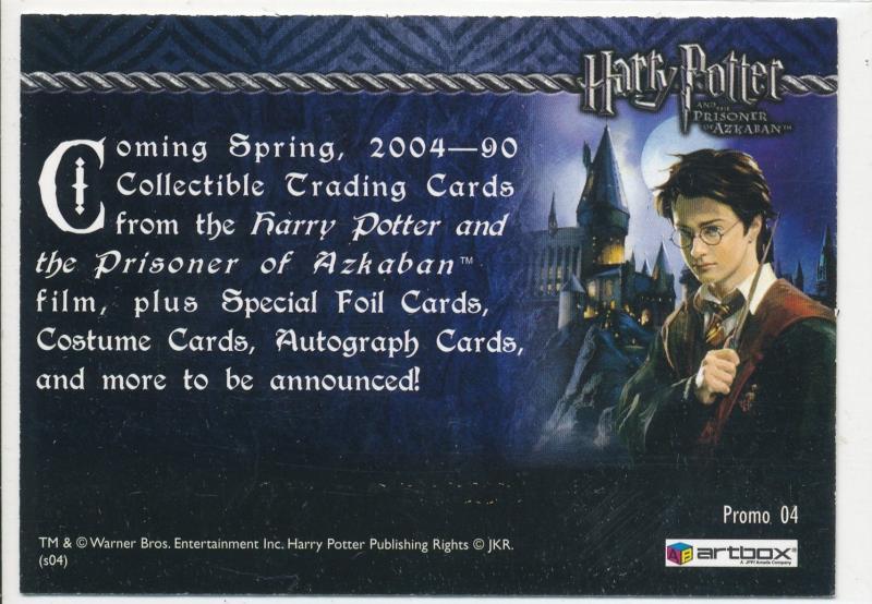 Harry Potter Prisoner of Azkaban Promo Card #04 (lotH9)