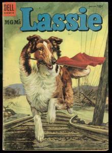 MGM'S LASSIE #19 1954-DELL COMICS-FAMOUS MOVIE COLLIE VG