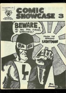 COMIC SHOWCASE FANZINE #3 1969-LIGHTMAN-PROTECTOR-RARE FN
