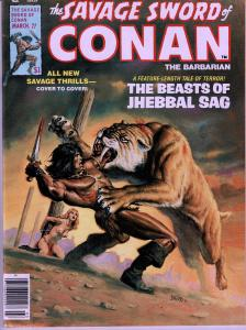 Savage Sword of Conan # 27- Early Conan Magazine - 6.0 or Better