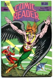 COMIC READER #180, VF+, Hawkman, Adam Strange, Fanzine, 1980, more in store