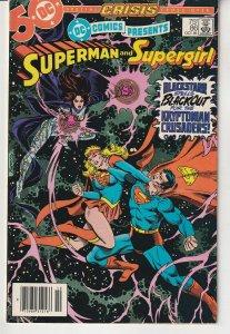 DC Comics Presents # 58 Crisis X-VR ! Superman and Supergirl