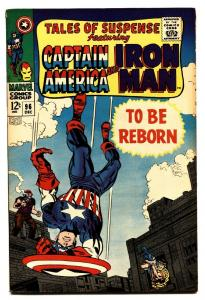 TALES OF SUSPENSE #96 comic book-CAPTAIN AMERICA/IRON MAN - FN-