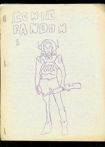 COMIC FANDOM FANZINE #1-CHARLTON-DELL-PRINT RUNS VG