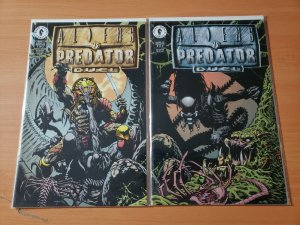 Aliens Vs Predator Duel 1-2 Complete Set Run! ~ NEAR MINT NM ~ 1995 Dark Horse