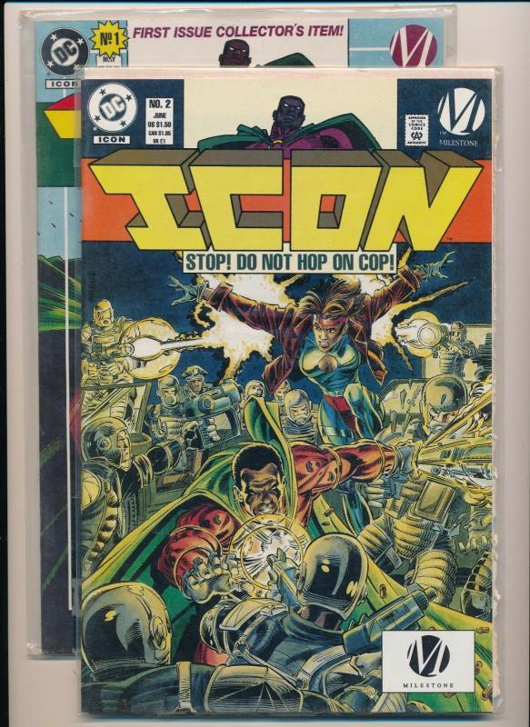 DC Comics / Milestone ICON #1,2 ~ NM (PJ11) / HipComic