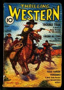 Thrilling Western Pulp May 1940- Walt Slade- Lee Bond- VG