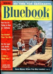 BLUE BOOK PULP-AUGUST-1955-G/VG-KNOPF COVER-ELIOT-HYMAN-KILPATRICK G/VG