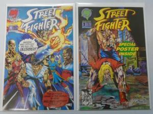 Street Fighter (1993 Malibu) Set:#1+2, 8.0/VF - 1993