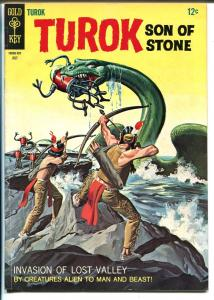 Turok Son Of Stone #58 1967-Gold Key-sci-fi cover-flying saucer story-FN