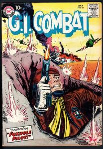 G.I. COMBAT #50 1957- dc war - GREAT COVER!-FOXHOLE!