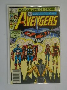 Avengers #217 Newsstand edition 5.0 VG FN (1982 1st Series)