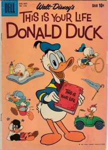 Dell Four Color 1109 VG-  1st Origin of Donald Duck (1960)
