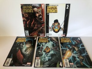 Ultimate Iron Man  #1 -5 Complete Set Lot Of 5