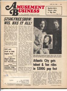 Amusement Business 4/26/1969-Billboard-Eric Clapton-circus-amusment parks-VG