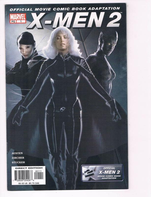 X Men 2 Movie 1 NM Marvel Comic Book Official Adaptation Storm Mystique S80