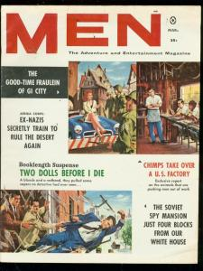 MEN MAGAZINE MARCH 1961-IRENE BARRY-SPY MANSION-PULP VG