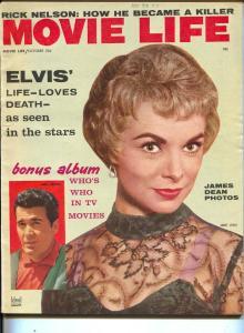 Movie Life-Janet Leigh-Elvis-James Garner-James Dean-Oct-1958