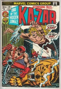 Astonishing Tales #20 (Oct-73) NM- High-Grade Ka-Zar, Zabu