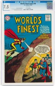 World's Finest #90 (DC, 1957) CGC Graded 7.5