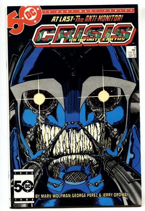 CRISIS ON INFINITE EARTHS #6 1st ANTI-MONITOR comic book 1985-DC / HipComic