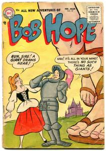 ADVENTURES OF BOB HOPE #37 1956-DC COMIC-MEDIEVAL COVER G/VG