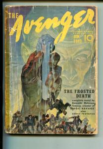 AVENGER 01/1940-STREET & SMITH-THE FROSTED DEATH-PULP-good