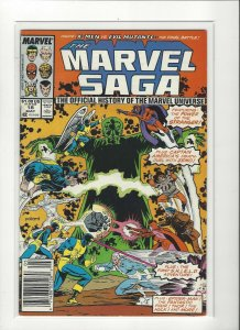 The Marvel Saga the Official History of the Marvel Universe #18 VF