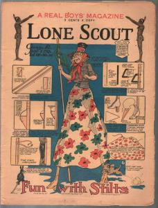 Lone Scout Vol. 7 #32 6/1/1918-A Real Boy's Magazine-3¢ cover price-VG