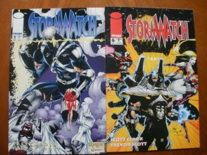 2 Near-Mint Image STORMWATCH #5 #6 (1993) Choi Lee Backlash Booth