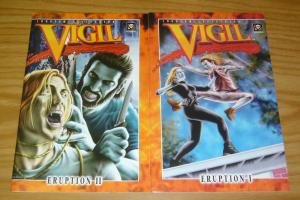 Vigil: Eruption #1-2 VF/NM complete series - vampire bad girl set lot 1996 comic