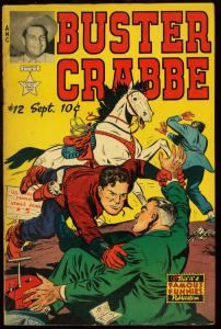 BUSTER CRABBE #12-PHOTO INSERT COVER-ATOMIC-1953 FN/VF