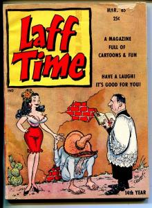 Laff Time 3/1965-Headline pubs-Orehek-jokes-spicy cartoons-Mexican wedding-VG