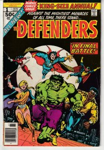 Defenders(vol. 1) Annual # 1   Fnal showdown with Nebulon and the Headmen !