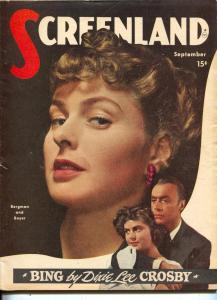 ScreenLand-Ingrid Bergman-Charles Boyer-Ronald Reagan-Sept-1947