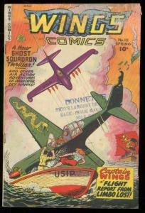 WINGS COMICS #111 1950-FICTION HOUSE-GHOST SQUADRON G/VG