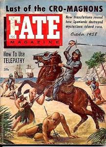 FATE-10/1958-TELEPATHY/VIOLENT STABBING CVR VG
