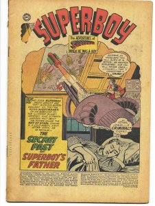 COVERLESS: Adventure Comics #238 DC 1957 Secret Past of Superboy's Father