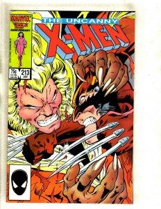 Uncanny X-Men # 213 NM Marvel Comic Book Wolverine Sabretooth Storm Beast HJ9