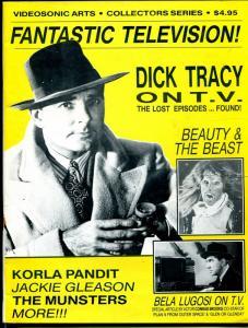 Fantastic Television #2 1980's-Dick Tracy-Jackie Gleason-Honeymooners-VG