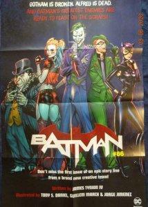 BATMAN #86  Promo Poster, Harley Quinn Joker 24 x 36, 2019, DC Unused 559
