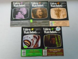 Video Watchdog lot 10 different early issues avg 6.0 FN (1990-96)