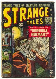 Strange Tales #14 1953- Horrible Herman- Wild horror cover