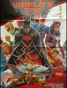 EARTH 2 WORLD'S END Promo Poster, 23 x 34, 2014, Batman, DC,  Unused 336