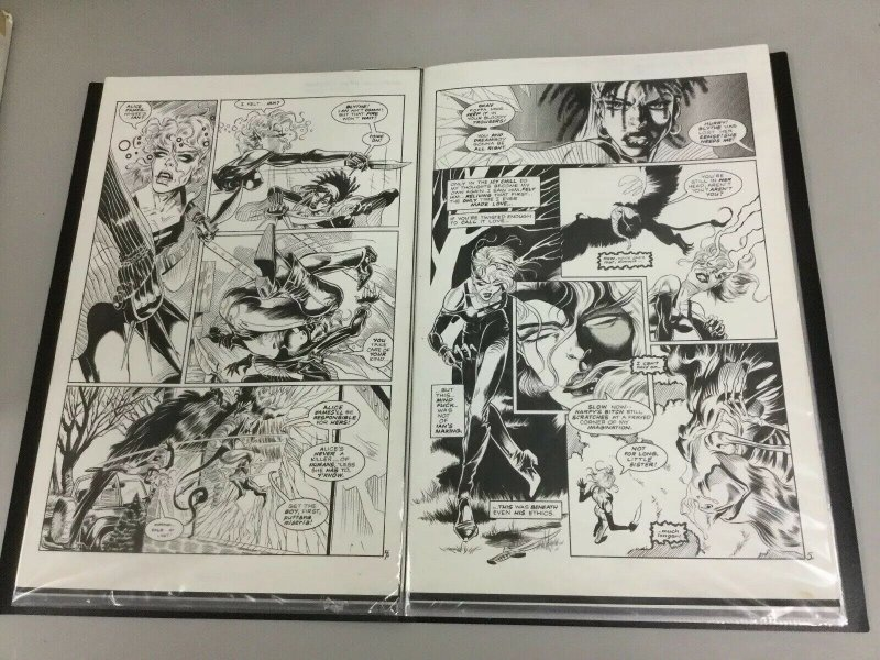 Hannibal King Original Comic Art Complete 23 Page Story Nightvision #4