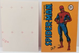 1986 MARVEL UNIVERSE STICKER #31 AMAZING SPIDER-MAN NM