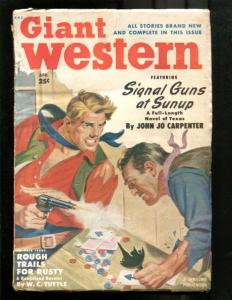 GIANT WESTERN-1950-APR-LOUIS L'AMOUR-CARD GAME COVER- VG
