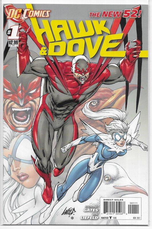 Hawk and Dove (vol. 4, 2011) #1 (1st print) VG (New 52) Gates, Liefeld