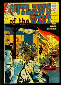 Outlaws of the West #37 1961- Gunfights- Charlton Western- FN-