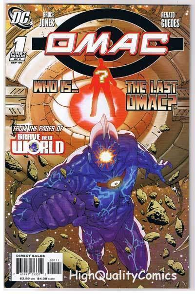 OMAC #1, VF+, One Man Army Corps, Bruce Jones, 2006